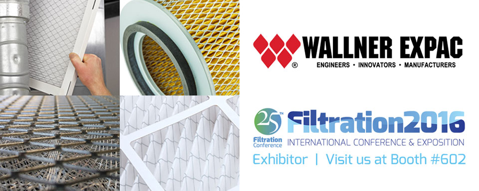 WALLNER EXPAC RETURNS TO EXHIBIT AT THE 25<sup>TH</sup> ANNIVERSARY OF FILTRATION 2016