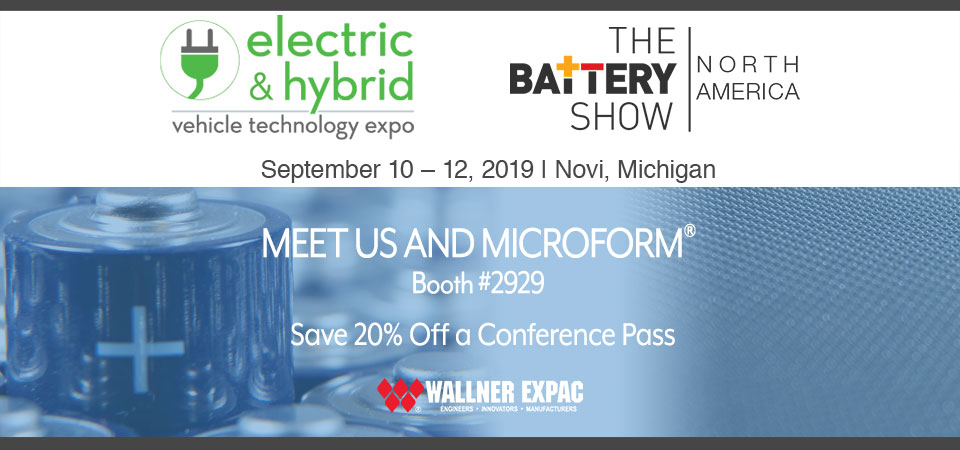 FOR THE FIRST TIME, WALLNER EXPAC TO EXHIBIT AT THE BATTERY SHOW 2019